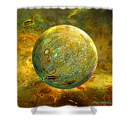 Quantum Soul...orb Of Light Shower Curtain by Robin Moline