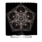 Quantum Star II Shower Curtain