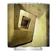 Square Staircase Shower Curtain