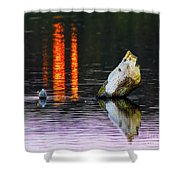 Quarry Lake Reflections Shower Curtain