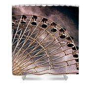 Quarter Wheel Shower Curtain
