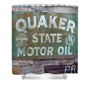 Quater State Oil Shower Curtain