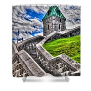 Quebec City Fortress Gates Shower Curtain