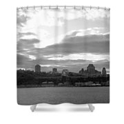 Quebec City Panorama B N W Shower Curtain