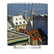 Quebec Lower Town Shower Curtain