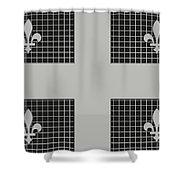 Quebec Metal Mesh Flag Shower Curtain