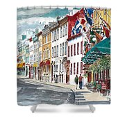 Quebec Old City Canada Shower Curtain by Anthony Butera