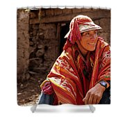 Quechua Man Sacred Valley Peru Shower Curtain