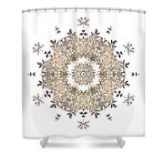 Queen Annes Lace I Flower Mandala White Shower Curtain