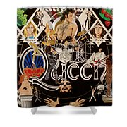 Queen - Black Queen White Queen Shower Curtain