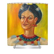 Queen Centehua Shower Curtain