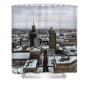 Queen City Winter Wonderland After The Storm Series 001 Shower Curtain