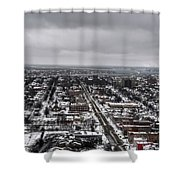 Queen City Winter Wonderland After The Storm Series 0010 Shower Curtain
