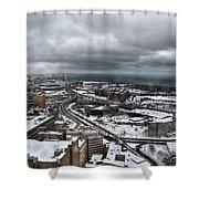 Queen City Winter Wonderland After The Storm Series 0011 Shower Curtain