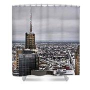Queen City Winter Wonderland After The Storm Series 0012 Shower Curtain