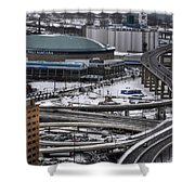 Queen City Winter Wonderland After The Storm Series 0014 Shower Curtain
