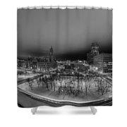 Queen City Winter Wonderland After The Storm Series 0018a Shower Curtain