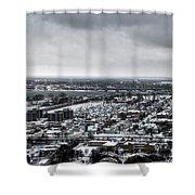 Queen City Winter Wonderland After The Storm Series 002 Shower Curtain