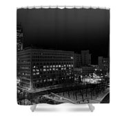 Queen City Winter Wonderland After The Storm Series 0020a Shower Curtain
