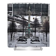 Queen City Winter Wonderland After The Storm Series 0026 Shower Curtain