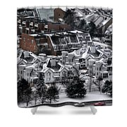 Queen City Winter Wonderland After The Storm Series 0028b Shower Curtain