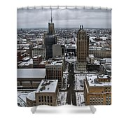 Queen City Winter Wonderland After The Storm Series 004 Shower Curtain