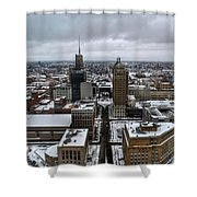 Queen City Winter Wonderland After The Storm Series 007 Shower Curtain