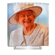Queen Elizabeth II Portrait 100-028 Shower Curtain