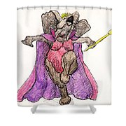 Queen For A Day Shower Curtain by Donna Tucker