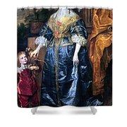 Queen Henrietta Maria (1609-69) Shower Curtain