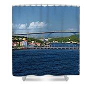 Queen Juliana Bridge  Queen Emma Bridge Curacao Shower Curtain