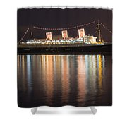 Queen Mary Decked Out For The Holidays Shower Curtain