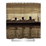 Queen Mary In Sepia Shower Curtain