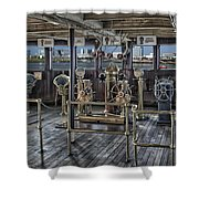 Queen Mary Ocean Liner Bridge 02 Extreme Shower Curtain