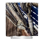 Queen Mary Ship Turnbuckle Shower Curtain