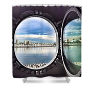 Queen Mary Starboard View Shower Curtain