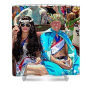 Queen Mermaid-king Neptune Shower Curtain