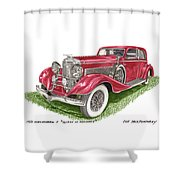 Queen Of Diamonds 1933 Duesenberg Model J Shower Curtain