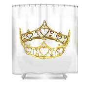 Queen Of Hearts Crown Tiara By Kristie Hubler Shower Curtain