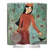 Queen Of Pentacles Shower Curtain