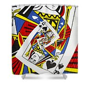Queen Of Spades Collage Shower Curtain