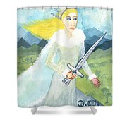 Queen Of Swords Shower Curtain