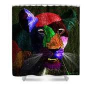 Queen Of The Jungle Featured In Harmony And Happiness-wildlife-nature Photography Groups Shower Curtain