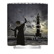 Queen Of The Seagulls Shower Curtain