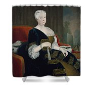 Queen Sophia Dorothea Of Hanover Oil On Canvas Shower Curtain