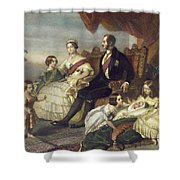 Queen Victoria & Family Shower Curtain