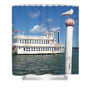 Queen Victoria Ferry And Seagull Shower Curtain