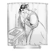Queen Victoria Sketch Shower Curtain
