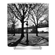 Queens Bridge Park  Shower Curtain