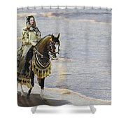 Queens War Horse Shower Curtain